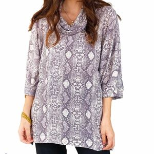 Andrée by Unit Snakeskin Printed Tunic